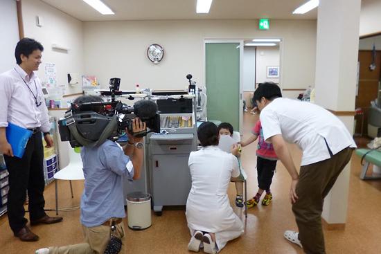 石川テレビさんの取材風景